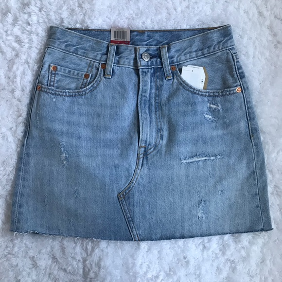 cdae61bbeb Levi's Skirts | Levis Deconstructed Denim Skirt | Poshmark